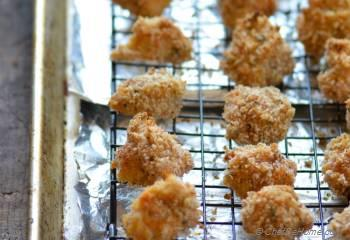 Step for Recipe - Baked Popcorn Chicken with Creamy Garlic Parmesan Dip