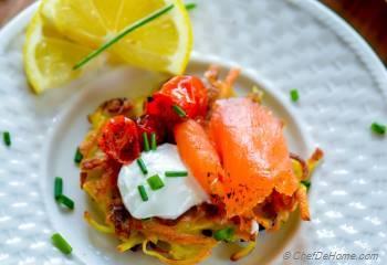 Step for Recipe - Roasted Tomato and Smoked Salmon Potato Latkes