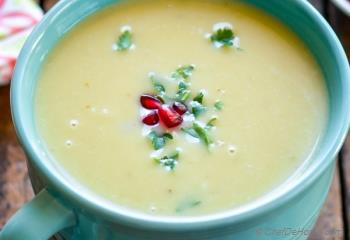 Step for Recipe - Creamy Potato Leek Soup in Pressure Cooker