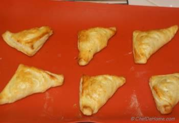 Step for Recipe - Savory Puff Pastry Turnovers