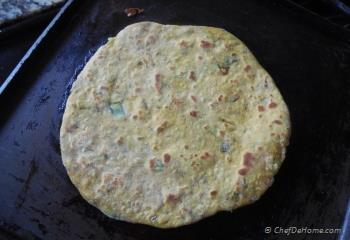 Step for Recipe - Spiced Chickpea Flat Bread