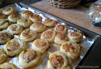 Step for Recipe - Mini Chicken Sausage Pin Wheels