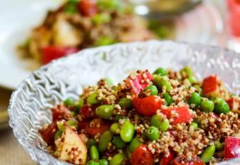 Step for Recipe - Rainbow Quinoa and Apples Salad with Roasted Tomato-Cumin Vinaigrette