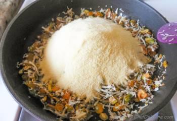 Step for Recipe - Indian Sweet Rava (Semolina) Ladoo