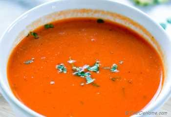 Step for Recipe - Vegan Roasted Red Pepper and Ginger Soup