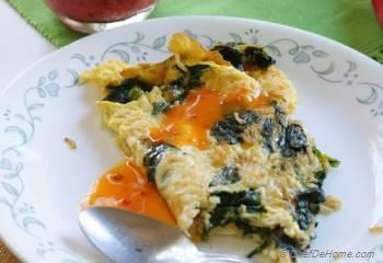 Step for Recipe - Rice and Spinach Omelette