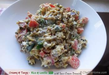 Step for Recipe - Creamy, Tangy Rice & Lentils Salad with Sour Cream Dressing