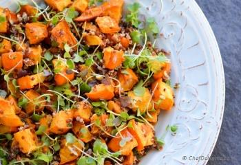 Step for Recipe - Roasted Acorn Squash, Microgreens and Quinoa Salad
