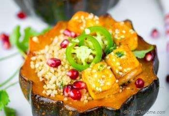 Step for Recipe - Honey Sriracha Roasted Acorn Squash Quinoa Bowl