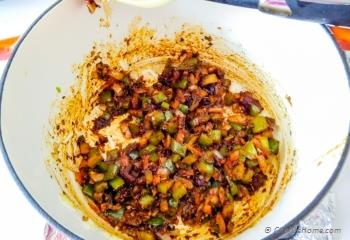 Step for Recipe - Easy Vegetarian Three Beans Chili with Chickpeas