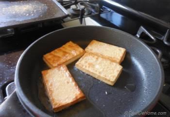 Step for Recipe - Crispy Fried Tofu with Ginger-Sesame Sauce