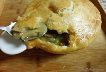 Step for Recipe - Leftover Roasted Turkey and Mushrooms Pot Pie