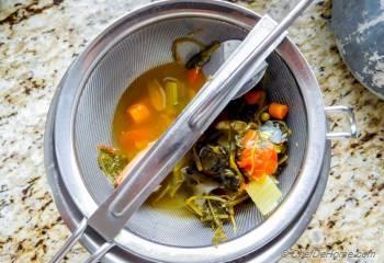 Step for Recipe - Homemade Vegetable Stock in Pressure Cooker