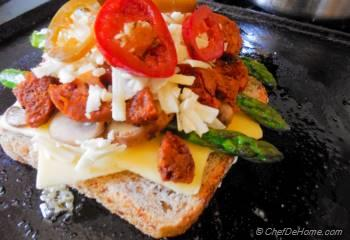 Step for Recipe - Cranberries, Asparagus and Pickled Jalapeno Grilled Cheese Sandwich