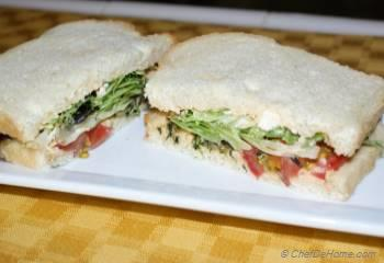 Step for Recipe - Veggie Club Sandwich