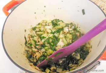Step for Recipe - Wild Rice, Kale and Mushroom Stuffing - Vegan and Gluten Free