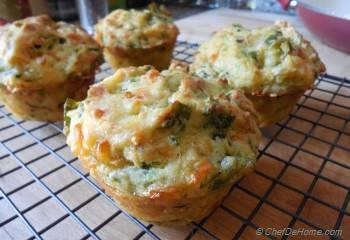 Step for Recipe - Zucchini and Spinach Muffins