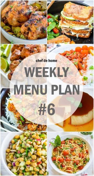 Weekly Meal Menu Plan - 6