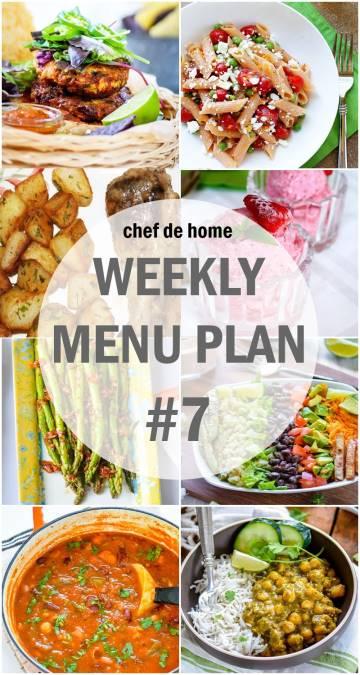 Weekly Meal Menu Plan - 7