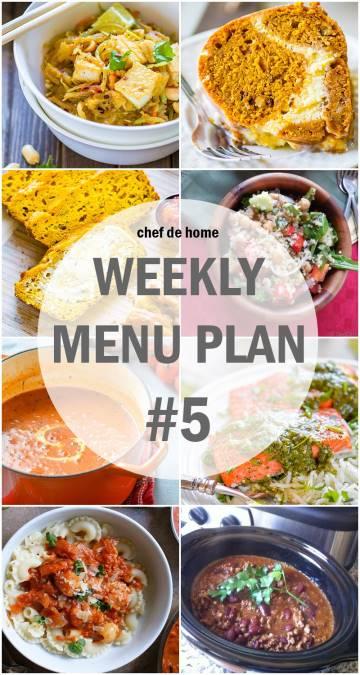 Weekly Meal Menu Plan - 5