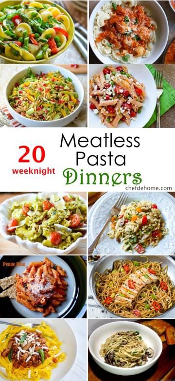 20 Weeknight Meatless Pasta Dinner Ideas