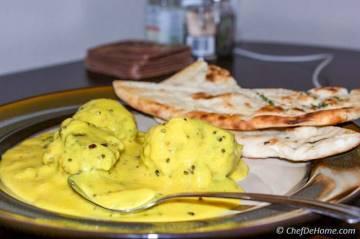 Spinach Kofta Kadhi (Curry)