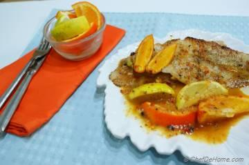 Pan-Seared Cod Fillets with Citrus Sauce