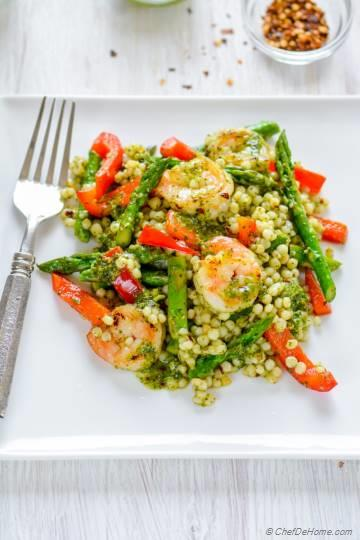 Grilled Chimichurri Shrimp and Couscous Salad