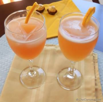 Grapefruit and Meyer Lemon Mocktail
