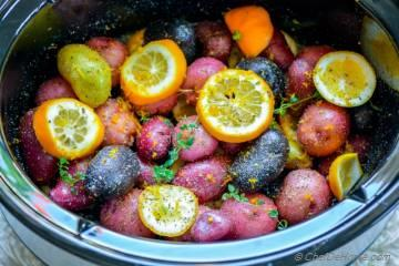 Slow Cooker Greek Lemon Potatoes
