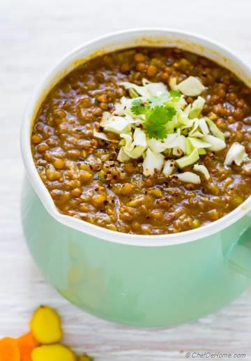 Cabbage Lentil Soup