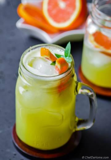 Honeydew Melon and Orange Juice