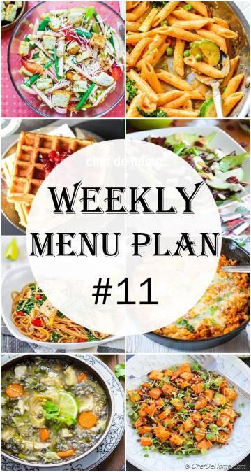 Weekly Meal Menu Plan - 11