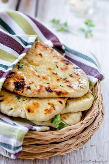 Homemade No Yeast Garlic Butter Naan