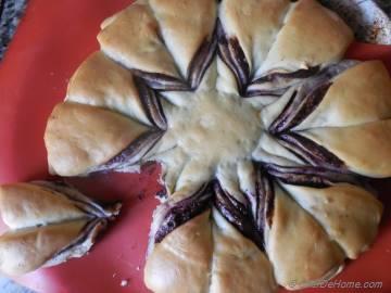 Nutella and Blueberry Breakfast Brioche Bread