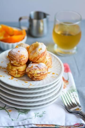 Orange-Cream Ebelskivers - Danish-style Filled Pancakes