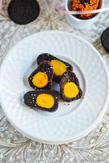 Yellow Yolk Oreo Cream Cheese Easter Eggs