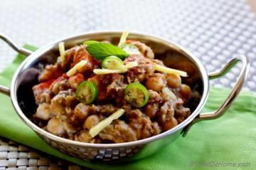 Indian Paneer Pindi Chana (Chole) Masala