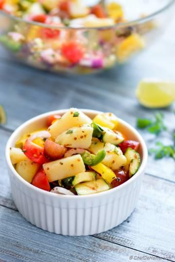 Farmer Market Healthy Potato Salad with Mustard Dressing