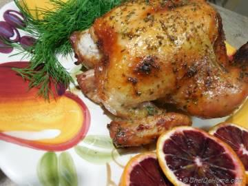 Roasted Game Hen with Stuffing