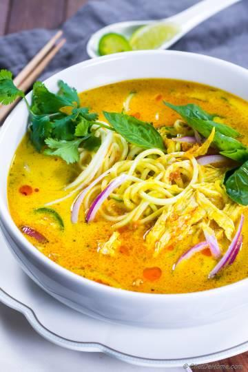 Chicken Khao Soi - Yellow Coconut Curry Soup