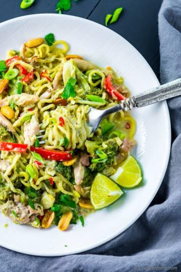Thai Green Curry Chicken Noodles