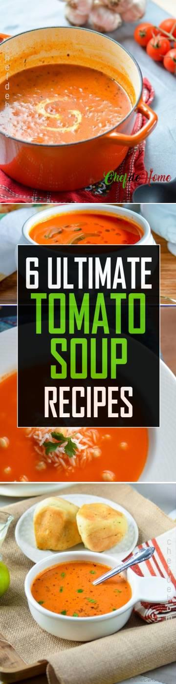 Tomato Soup Recipe - 6 Ways