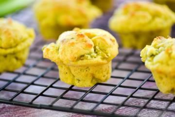 Vegan Avocado-Scallion Bake Sale Muffins
