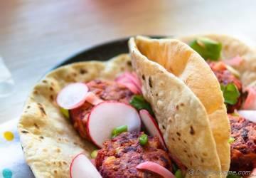 Vegan Beets and Carrot Falafel Tacos