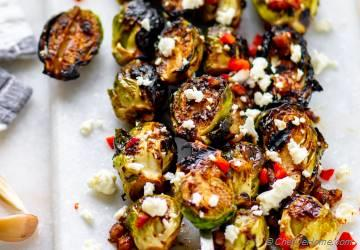 Grilled Brussel Sprouts with Balsamic