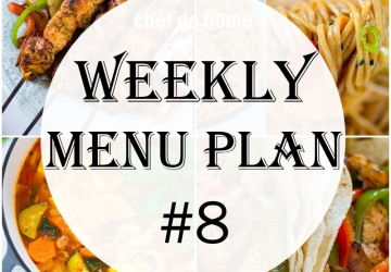Weekly Meal Menu Plan - 8