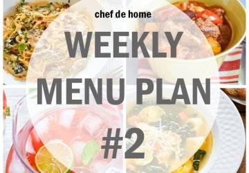 Weekly Meal Menu Plan - 2