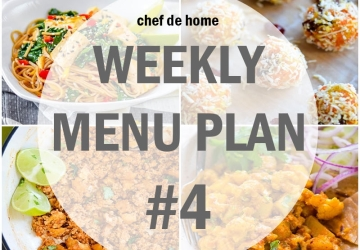 Weekly Meal Menu Plan - 4 (Vegetarian)
