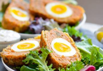 Giant Baked Chicken Scotch Eggs | Indian Nargisi Kofta